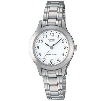 【CASIO】 時尚精緻小巧淑女腕錶-數字白面 (LTP-1128A-7B)