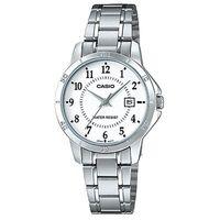 【CASIO】 經典復古簡約巧小指針日期腕錶-數字白面 (LTP-V004D-7B)