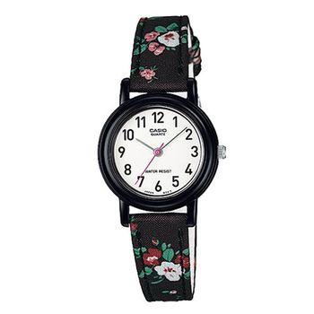 【CASIO】 復古美學花香氣息指針腕錶-黑X數字白面 (LQ-139LB-1B2)