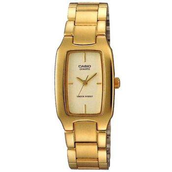 【CASIO】 清新時尚酒桶型指針腕錶-金 (LTP-1165N-9C)