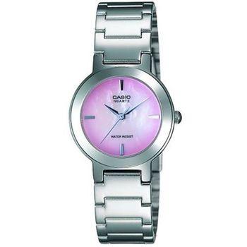 【CASIO】 珍珠母貝甜美淑女腕錶-紫紅面 (LTP-1191A-4C)