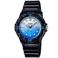 【CASIO】 渲染漸層設計迷你潛水風指針運動錶-黑x漸層藍 (LRW-200H-2E)