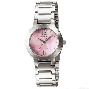 【CASIO】 珍珠母貝甜美淑女腕錶-粉面 (LTP-1191A-4A1)