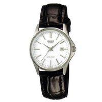 【CASIO】 經典簡約時尚巧小皮帶日曆腕錶-羅馬白面 (LTP-1183E-7A)