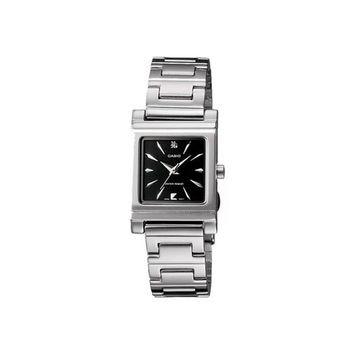 【CASIO】 知性神采氣質型女錶腕-羅馬黑面 (LTP-1237D-1A2)