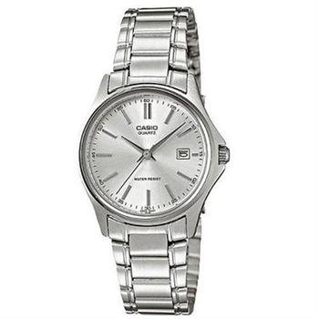【CASIO】 羅馬時尚精緻淑女腕錶-銀白面 (LTP-1183A-7A)