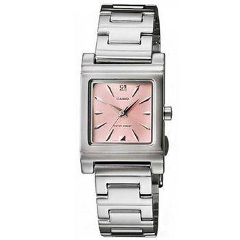 【CASIO】 知性神采氣質型女錶腕-粉橘面 (LTP-1237D-4A2)