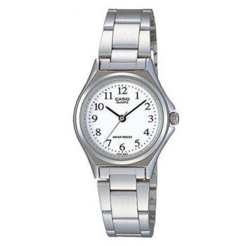 【CASIO】 經典簡約時尚巧小腕錶-數字白面 (LTP-1130A-7B)