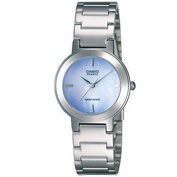 【CASIO】 珍珠母貝甜美淑女腕錶-紫藍色 (LTP-1191A-2C)