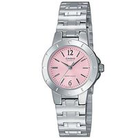 【CASIO】 時尚精緻小巧淑女腕錶-粉紅面 (LTP-1177A-4A1)