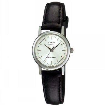 【CASIO】 時尚典雅淑女皮帶腕錶-羅馬白面 (LTP-1095E-7A)