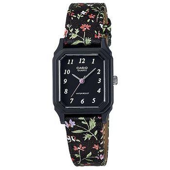 【CASIO】 復古花圖騰時尚風指針腕錶-花帶數字黑面 (LQ-142LB-1B)