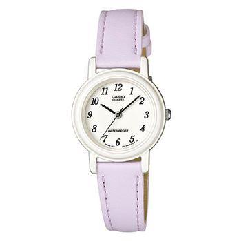 【CASIO】 馬卡龍甜心魅力皮帶腕錶-粉嫩紫 (LQ-139L-6B)