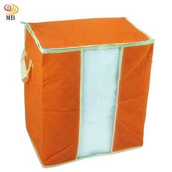 月陽49X43竹炭彩色透明視窗衣物收納袋整理箱