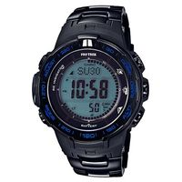 【CASIO】PROTREK 大自然戶外新裝備三大感應鈦合金電波錶-黑X藍框 (PRW-3100YT-1)
