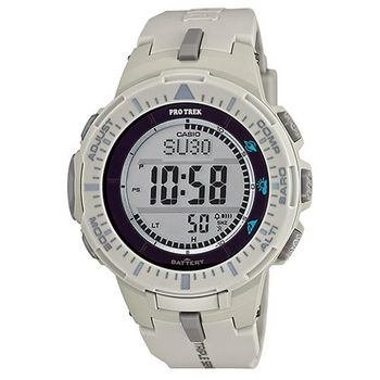 【CASIO】PROTREK原野時尚風格戶外活動高亮度照明登山錶-灰 (PRG-300-8)
