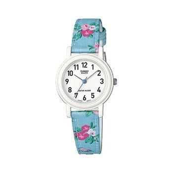 【CASIO】 復古美學花香氣息指針腕錶-藍花帶 (LQ-139LB-2B2)