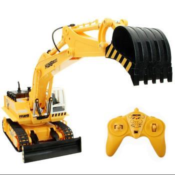金德恩 無線遙控 11通道遙控工程車 挖土機遙控玩具