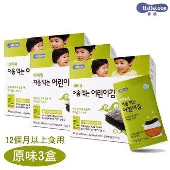 韓國bebecook兒童無鹽初食海苔-原味