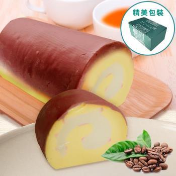 金德恩 台灣製 捲心蛋糕造型 手工皂 (咖啡)