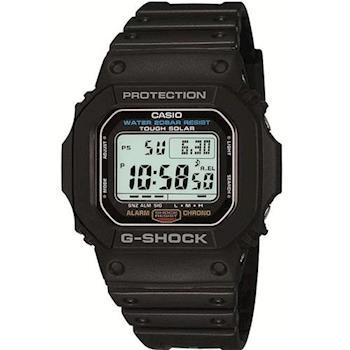 【CASIO】G-SHOCK 變身潮流經典運動休閒太陽能錶-黑 (G-5600E-1)