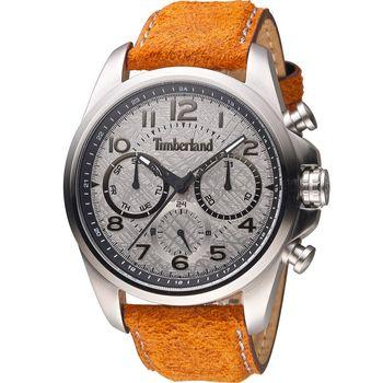 Timberland 絕地武裝任務時尚腕錶 TBL.14769JS/13 銀灰x咖啡