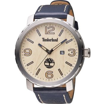 Timberland Pinkerton 木紋時尚腕錶 TBL.14399XS/07A  藍
