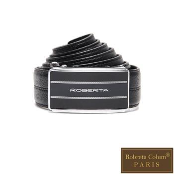 Roberta Colum - 紳士們雙線碳纖自動金屬滑扣牛皮皮帶