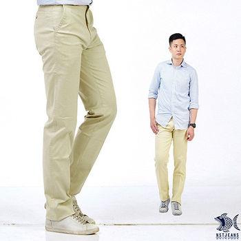 【NST Jeans】 397(66361) 夏日柔软法国白奶酪 直纹_斜口袋休闲裤(中腰)