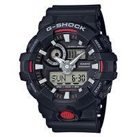 【CASIO】G-SHOCK創新突破金屬感搶眼視覺休閒錶-黑 (GA-700-1A)