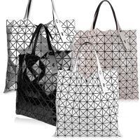 ISSEY MIYAKE 三宅一生BAOBAO幾何方格10x10透光亮面肩背包(3色選)