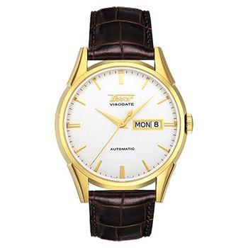 TISSOT VISODATE 1957 復刻機械腕錶-39mm T0194303603101