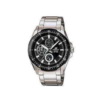 【CASIO】EDIFICE 前衛IP黑時尚品味腕錶-IP黑框 (EF-336DB-1A1)