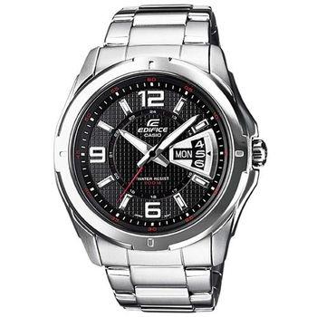 【CASIO】 科技鋼炮賽車指針錶-黑 (EF-129D-1A)