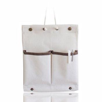 【將將好收納】帆布收納掛袋-中二  鑰匙籃 收納袋 籃子 收納籃 袋子