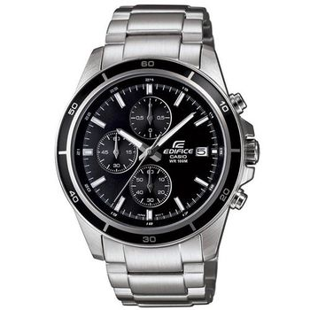 【CASIO】EDIFICE 精準時刻賽車計時腕錶-黑面 (EFR-526D-1A)