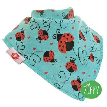 英國Zippy-幼兒時尚口水巾-小瓢蟲
