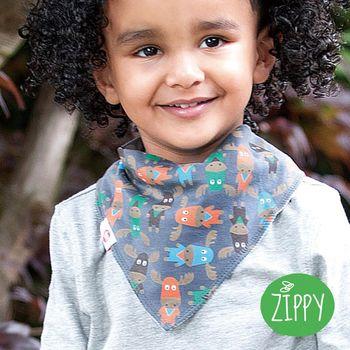 英國Zippy-幼兒時尚口水巾-麋鹿