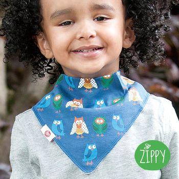 任-英國Zippy-幼兒時尚口水巾-貓頭鷹