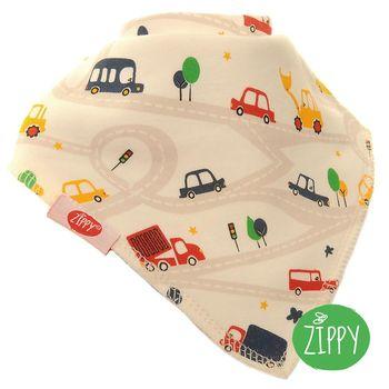 英國Zippy-幼兒時尚口水巾-公路車