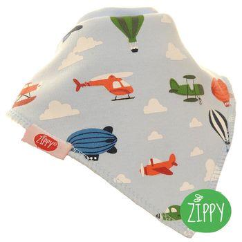 英國Zippy-幼兒時尚口水巾-飛行器