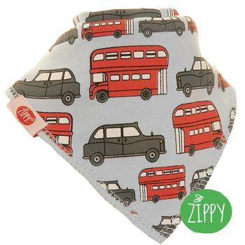英國Zippy-幼兒時尚口水巾-巴士車