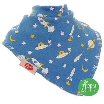 英國Zippy-幼兒時尚口水巾-太空船