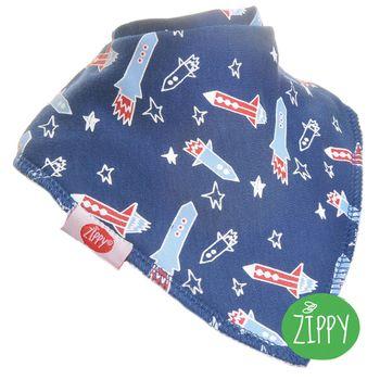 英國Zippy-幼兒時尚口水巾-火箭