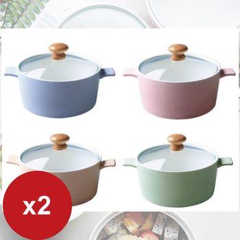 【超值2入】日式簡約陶瓷碗/泡麵碗800ML(附玻璃蓋)隨機款