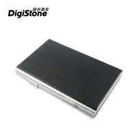 DigiStone 仿皮革超薄型Slim鋁合金 12片裝雙層多功能記憶卡收納盒(4SD+8TF)-黑色