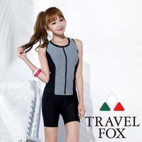 【夏之戀TRAVEL FOX】大女帥氣長版二件式泳衣C16707