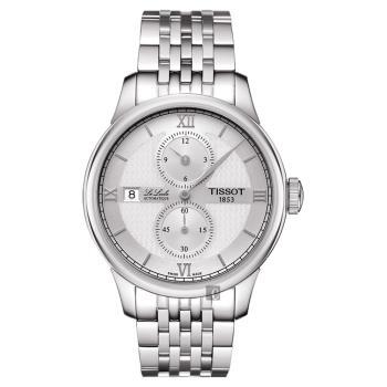 TISSOT 天梭 Le Locle 力洛克 雅仕機械腕錶-銀/40mm T0064281103802