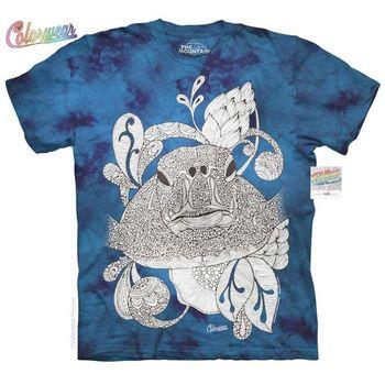 【摩達客】(預購)美國進口ColorWear  花海龜 禪繞畫療癒藝術 環保短袖T恤