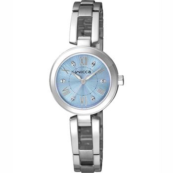 CITIZEN星辰 Wicca氣質高雅手鐲式女錶-藍/24mm(BG3-911-71)